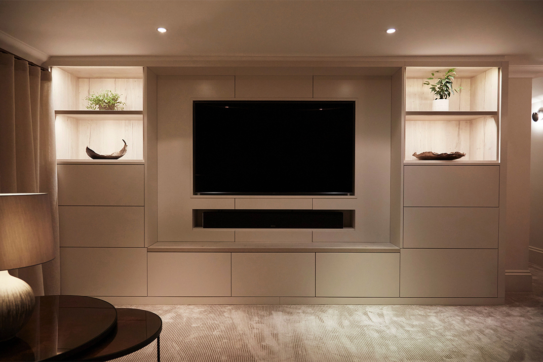 Soft Contemporary Design Bespoke TV Furniture